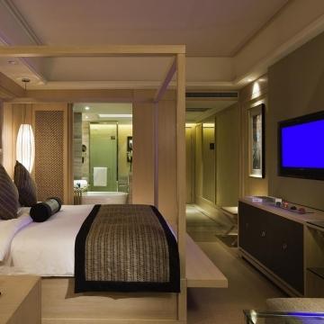 豪华客房,东南亚风情,均附带独立阳台。